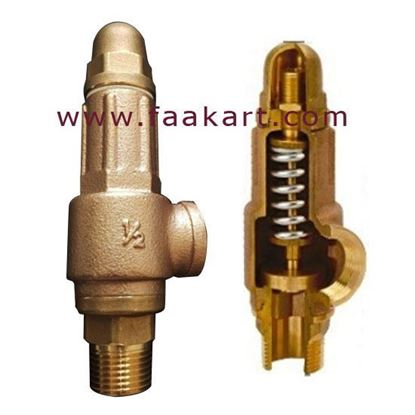 """Picture of 1/2"""" Pressure Relief Valve / Safety Valve - Taiwan"""