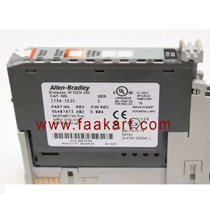 Picture of 1734-IE2C Allen Bradley POINT I/O 2 Current and 2 Voltage Input Analog Modules Ended, 75mA.