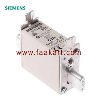 Picture of 3NA3822 Siemens 63A 000 NH Centred Tag Fuse
