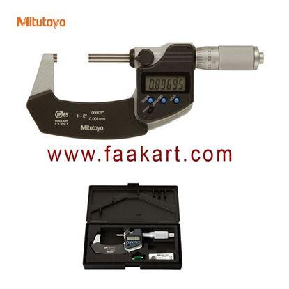 "Picture of 293-345-30 Mitutoyo Digital Micrometer 1-2""  Range"