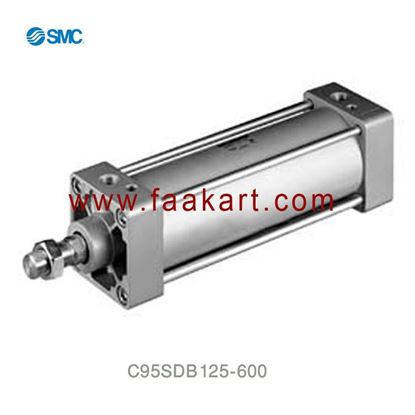 Picture of C95SDB125-600 SMC SC Cylinder Double Acting
