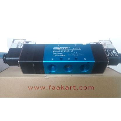 "Picture of 5/3 Way Solenoid Valve 4V430C-15 - 1/2"" Port -24VDC"