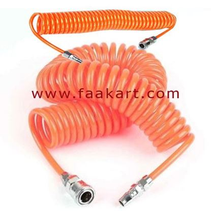 Picture of Pneumatic Spiral Coil Tube 10MM X 6MTR Orange Colour