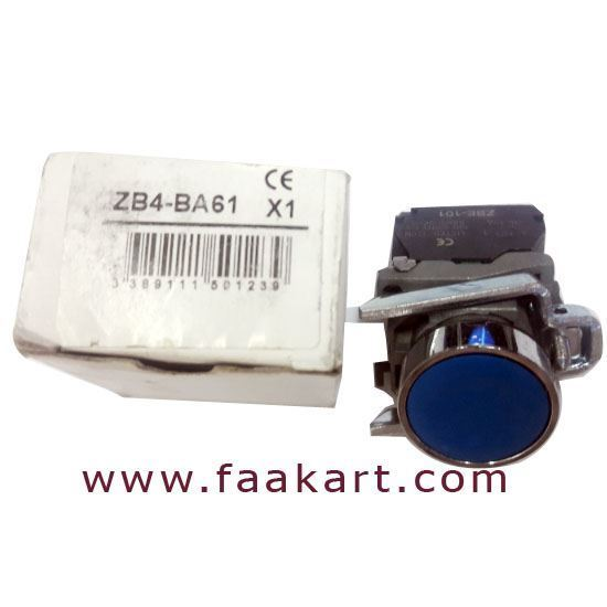 Picture of ZB4BA61 - Schneider Blue Push Button