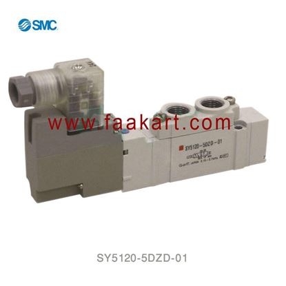 Picture of SY5120-5DZD-01 SMC 5/2 Single Solenoid Valve