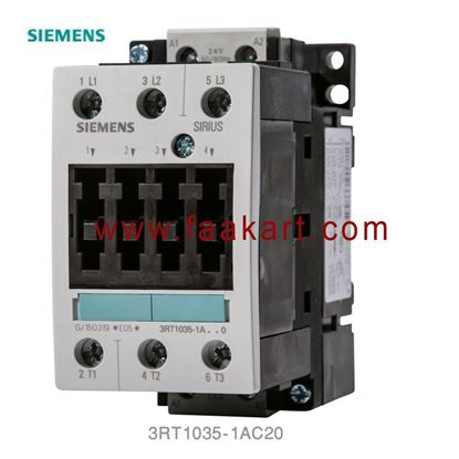 Picture of 3RT1035-1AC20 Siemens 3 Pole Contactor