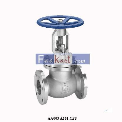 "Picture of AA003 A351 CF8 Gate Valve  3"" CLASS 600"