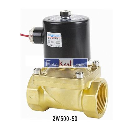 "Picture of 2W500-50 AC220V-2"", 2Way Solenoid Valve, Normally Close, Air,Water,Oil,Gas"