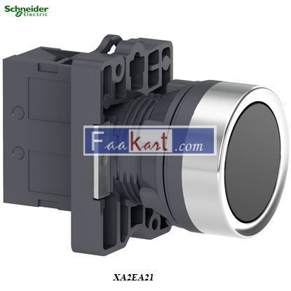 Picture of XA2EA21  Round black push-button