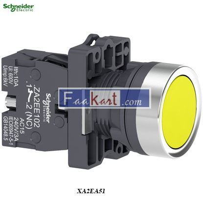 Picture of XA2EA51  Round yellow push-button