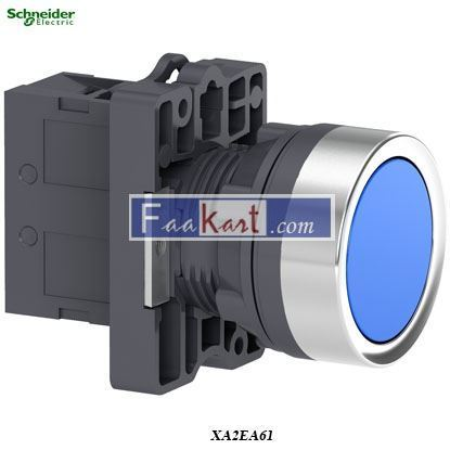 Picture of XA2EA61  Round blue push-button