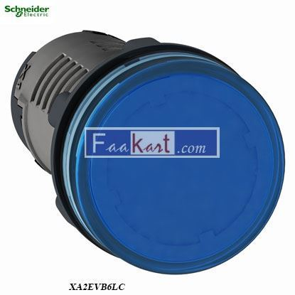 Picture of XA2EVB6LC  Round pilot light Ø 22 - blue