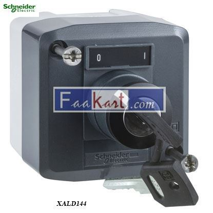 Picture of XALD144  Control station, plastic, dark grey lid, 1 selector key switch