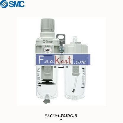 Picture of AC30A-F03DG-B   FRL Assembly, Automatic Drain, 5μm Filtration