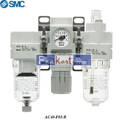 Picture of AC40-F03-B   FRL Assembly, 5μm Filtration