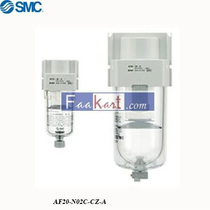 Picture of AF20-N02C-CZ-A  SMC AF 5μm NPT 1/4 Pneumatic Filter, Automatic