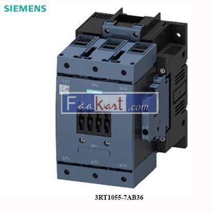 Picture of 3RT1055-7AB36  Siemens Power contactor