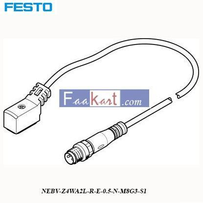 Picture of NEBV-Z4WA2L-R-E-0  FESTO t Connecting Cable