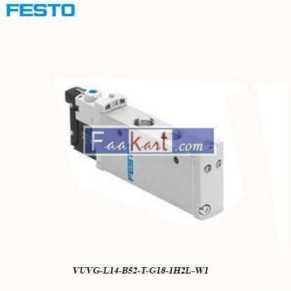 Picture of VUVG-L14-B52-T-G18-1H2L-W1 FESTO  Solenoid Valve