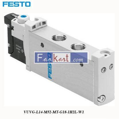 Picture of VUVG-L14-M52-MT-G18-1H2L-W1  FESTO Solenoid Valve