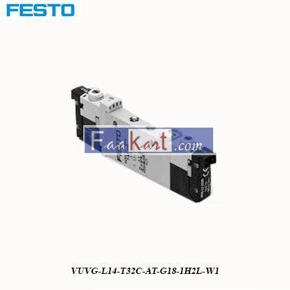 Picture of VUVG-L14-T32C-AT-G18-1H2L-W1  FESTO  Pneumatic Solenoid Valve