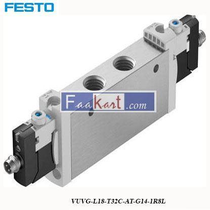 Picture of VUVG-L18-T32C-AT-G14-1R8L FESTO Pneumatic Solenoid Valve