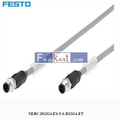 Picture of NEBC-D12G4-ES-3-S-D12G4-ET  FESTO  4 Pin D-coded Cable