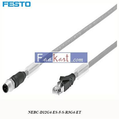 Picture of NEBC-D12G4-ES-5-S-R3G4-ET FESTO 4 Pin D-coded to RJ45 Cable