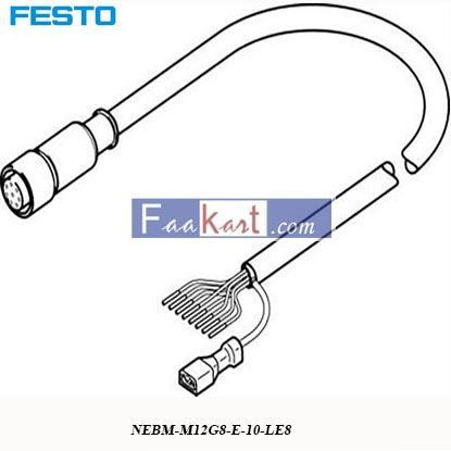 Picture of NEBM-M12G8-E-10-LE8  FESTO  Encoder Cable