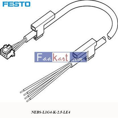 Picture of NEBS-L1G4-K-2  FESTO Sensor Connecting Cable