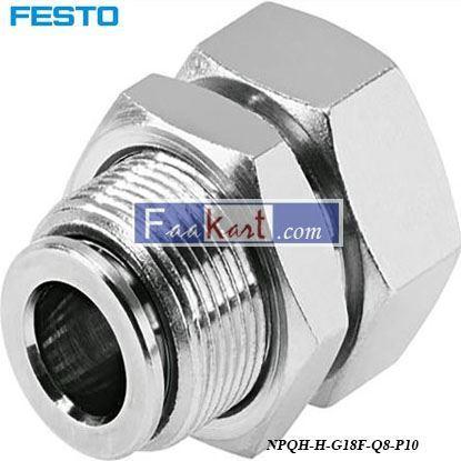 Picture of NPQH-H-G18F-Q8-P10  Festo Pneumatic Bulkhead