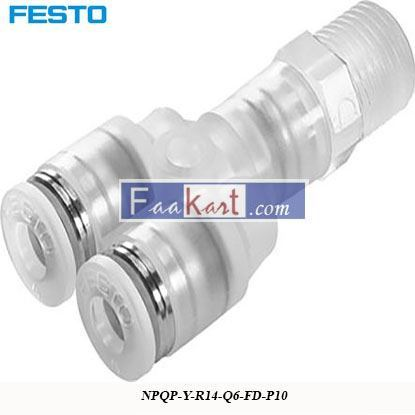 Picture of NPQP-Y-R14-Q6-FD-P10  Festo Pneumatic Double Y Threaded
