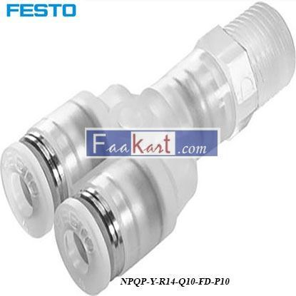 Picture of NPQP-Y-R14-Q10-FD-P10  Festo Pneumatic Double Y Threaded