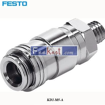 Picture of KD2-M5-A  Festo Pneumatic Quick Connect Coupling Brass