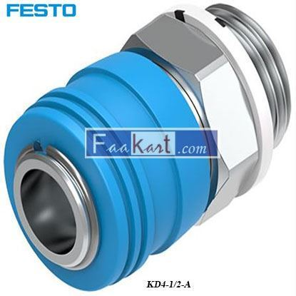Picture of KD4-1 2-A  Festo Pneumatic Quick Connect Coupling Brass