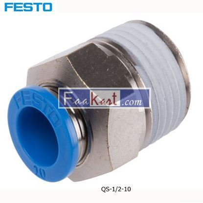 Picture of QS-1 2-10  Festo Threaded-to-Tube Pneumatic Fitting