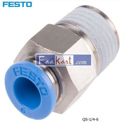 Picture of QS-1 4-6  Festo Threaded-to-Tube Pneumatic Fitting