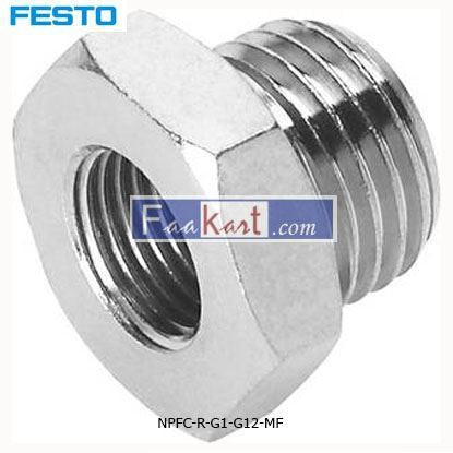 Picture of NPFC-R-G1-G12-MF  FESTO  Pneumatic Straight Threaded Adapter