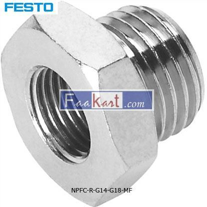 Picture of NPFC-R-G14-G18-MF   FESTOPneumatic Straight Threaded Adapter