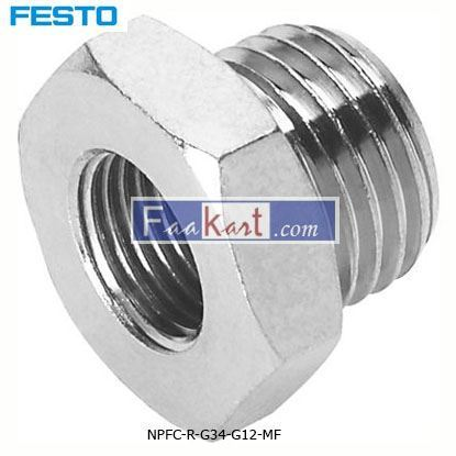 Picture of NPFC-R-G34-G12-MF FESTO Pneumatic Straight Threaded Adapter