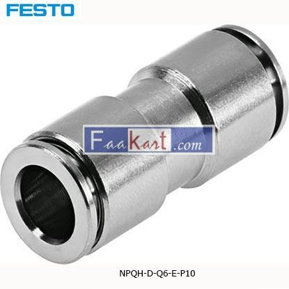 Picture of NPQH-D-Q6-E-P10  Festo NPQH Pneumatic Straight Tube-to-Tube Adapter