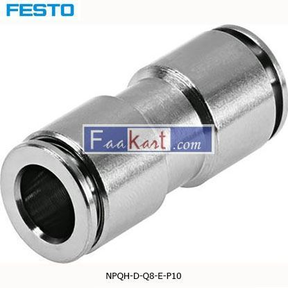 Picture of NPQH-D-Q8-E-P10  Festo NPQH Pneumatic Straight Tube-to-Tube Adapter