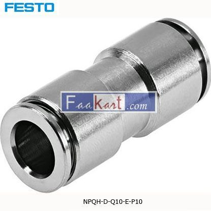 Picture of NPQH-D-Q10-E-P10  Festo NPQH Pneumatic Straight Tube-to-Tube Adapter