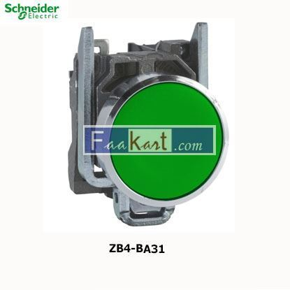 Picture of ZB4BA31 Green Push Button NO Spring Return
