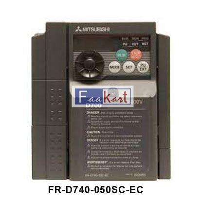 Picture of FR-D740-050SC-EC - Mitsubishi FR-D740 Inverter Drive, 3-Phase