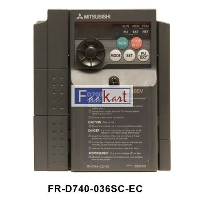 Picture of FR-D740-036SC-EC-Mitsubishi FR-D740 Inverter Drive, 3-Phase In